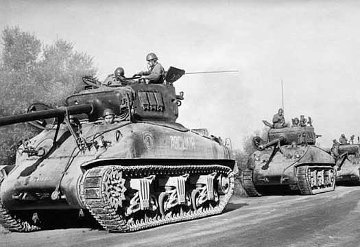 French tanks in Algeria in 1954