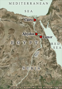 Map showing Abydos