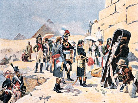 Napoleon visits the pyramids