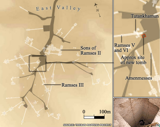Map of the Valley of the Kings