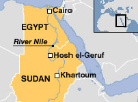 A map showing the location of key Nubian/Kushite sites