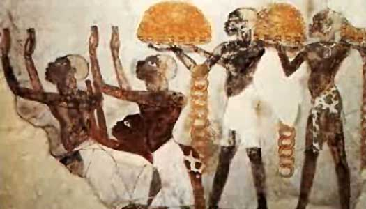 Wall painting of Nubians