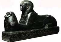 Nubian sphinx from the kingdom of kush