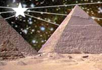 The pyramids aligned with the pole star