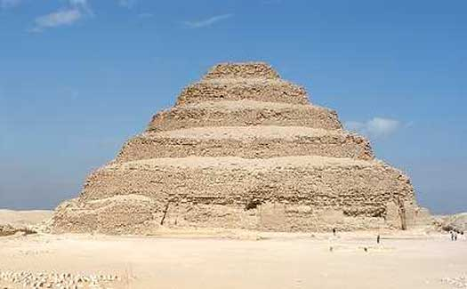 Zoser pyramid in Egypt