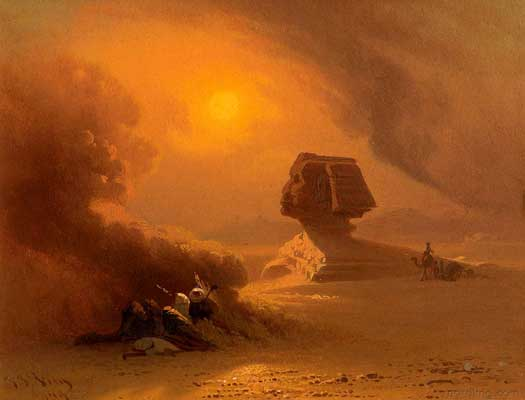Sandstorm over the Sphinx
