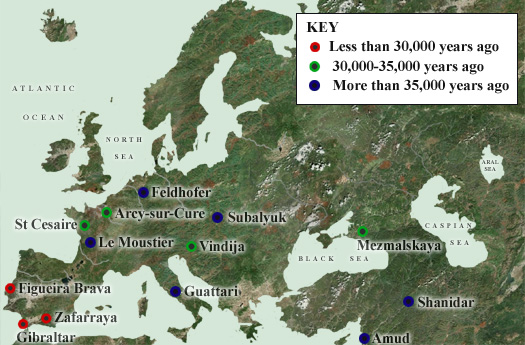 Neanderthal Sites
