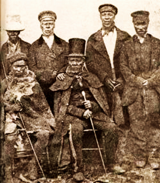 Chief Moshoeshoe I and ministers