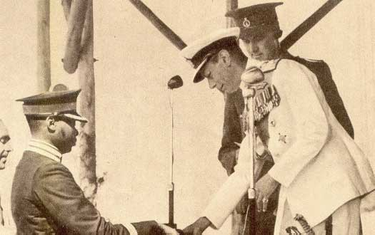 King Cyprian greets King George VI