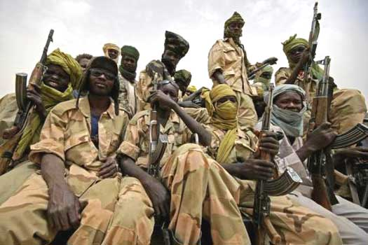 Sudanese Janjaweed fighters