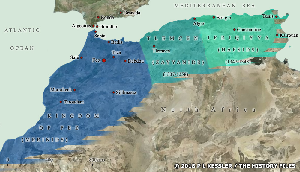 Map of North Africa AD 1300s