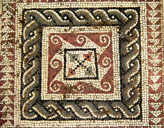 Roman mosaic floor in Utica