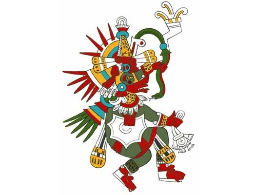 Aztec god of the air Quetzalcoatl