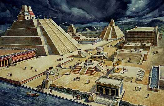 Artist's recreation of Tenochtitlan