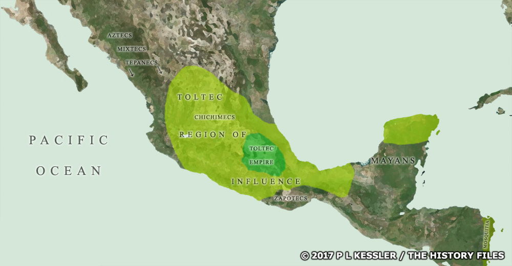 Map of Central America around AD 950