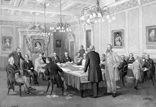 The act of Confederation in Canada