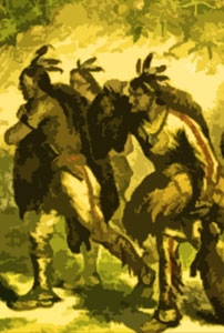 Native American fur trappers
