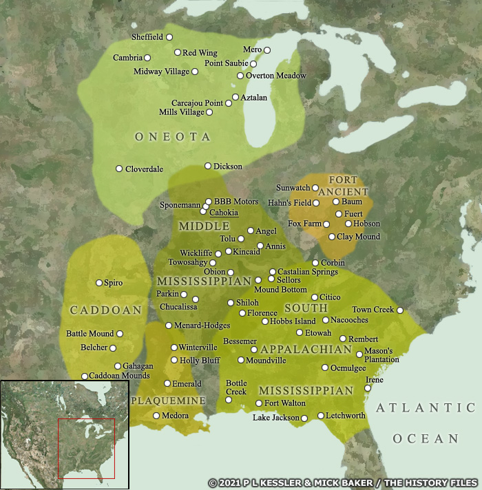 Map of Mississippian culture
