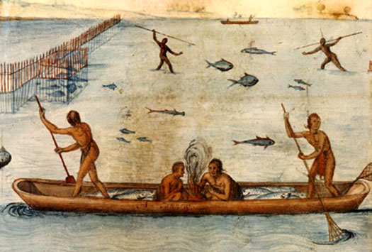 Algonquin people fishing