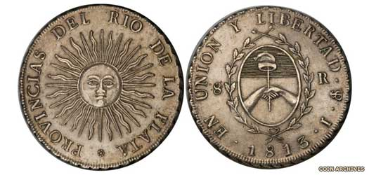 United Provinces eight reales piece