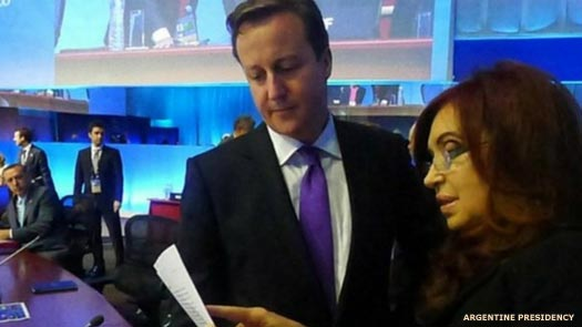 David Cameron and Cristina Kirchner