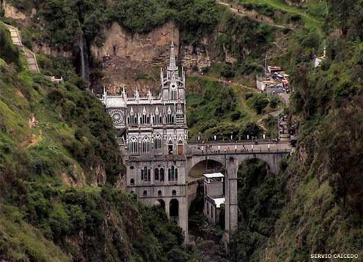 The Sanctuary of Our Lady of Las Lajas in Colombia