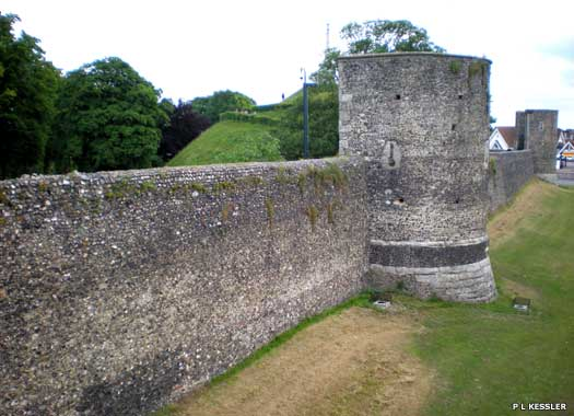 Canterbury city wall, southern side