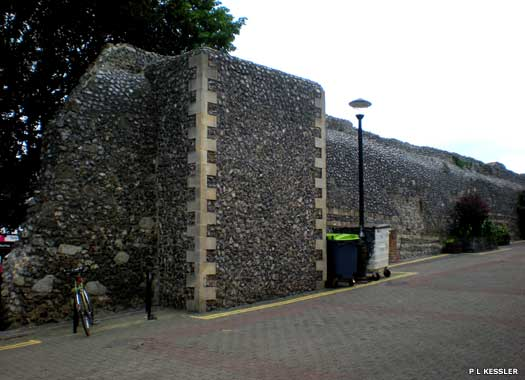 Canterbury city wall, near St George's Place