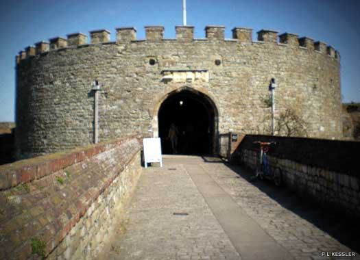 The access walkway of Walmer Castle