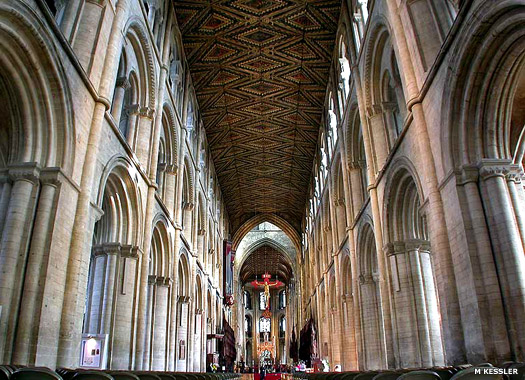 The nave at Peterborough Cathedral