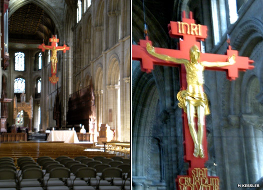 Hanging crucifix at Peterborough Cathedral