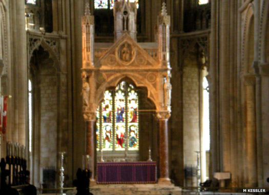 The ciborium or altar canopy at Peterborough Cathedral