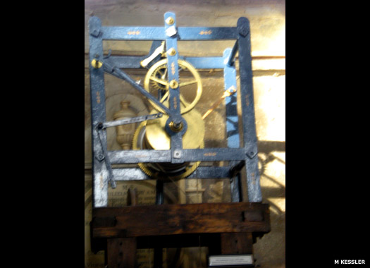 Chiming clocks mechanism at Peterborough Cathedral