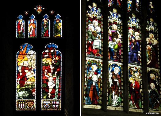 Stained glass windows at Peterborough Cathedral