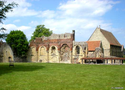 The north wall of St Augustine's Abbey