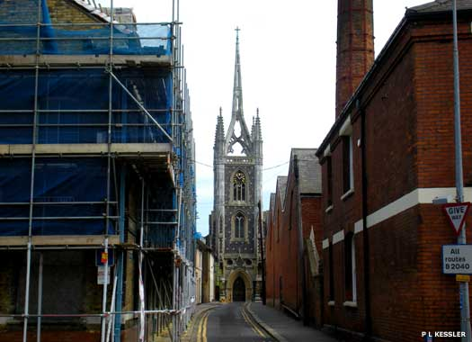 Long view of St Mary of Charity from Abbey Street, Faversham, Kent