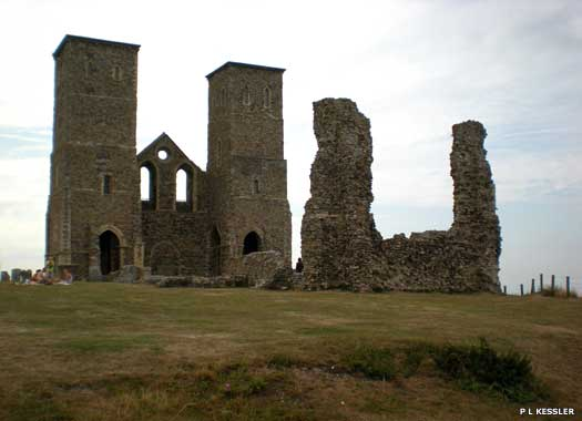 Reculver's church and abbey site