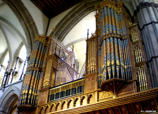 The organ in Rochester Cathedral in Kent