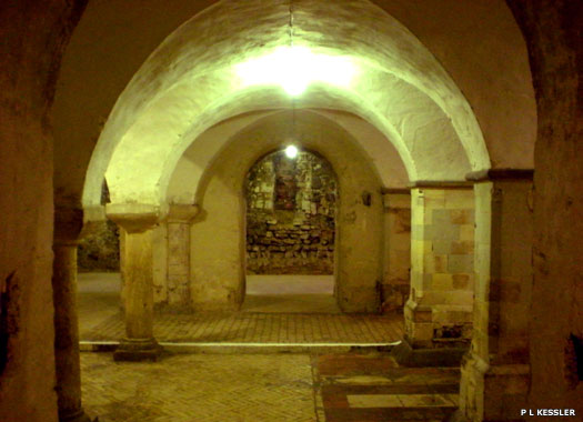 The crypt under Rochester Cathedral in Kent