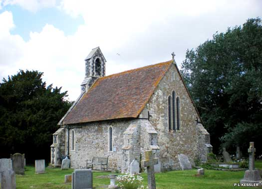 Side view of St Alphege Church in Seasalter