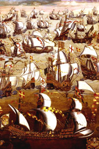 Defeat of the Spanish Armada 1588