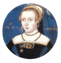 Princess Elizabeth Tudor, attributed to Levina Teerlinc and identified as Elizabeth by Sir Roy Strong