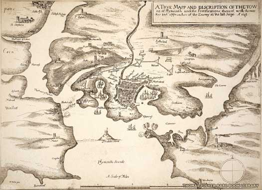 Map of Plymouth AD 1643