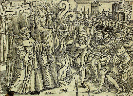 The burning of Thomas Cranmer