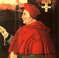 Portrait of Cardinal Thomas Wolsey
