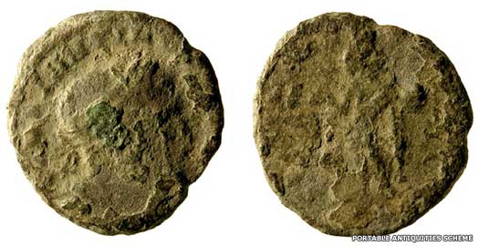 Byzantine coins on the Isle of Wight