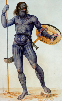 Traditional Pictish warrior