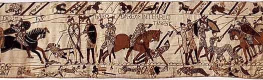 Battle of Hastings section of the Bayeux Tapestry
