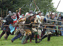 A re-enactment of the Battle of Bannockburn