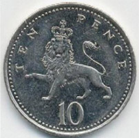 British ten pence piece